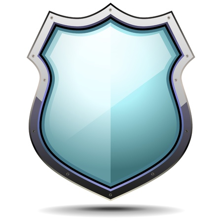 Illustration for detailed illustration of a coat of arms, symbol for security and protection - Royalty Free Image