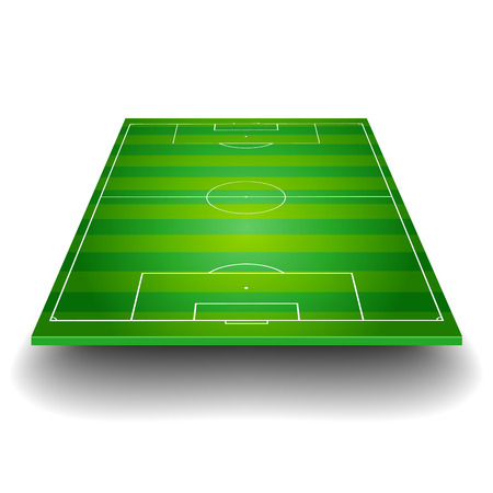 Illustration pour detailed illustration of a soccer field with front perspective, eps10 vector - image libre de droit