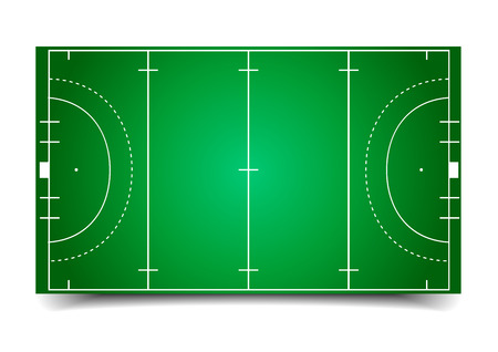 Illustration pour detailed illustration of a hockey field  - image libre de droit