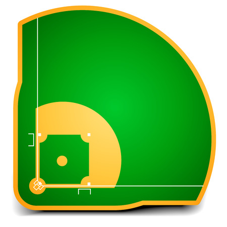 Illustration pour detailed illustration of a baseball field   - image libre de droit