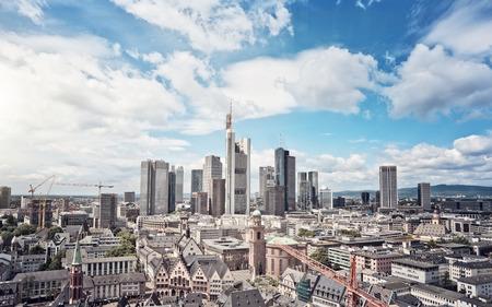 Foto de Skyline of Frankfurt am Main, Germany, financial capital of the european union - Imagen libre de derechos