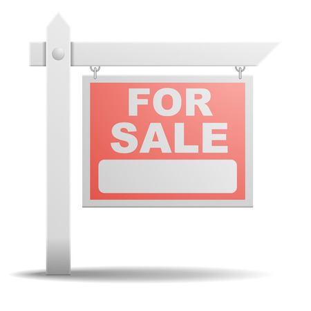 Illustration pour detailed illustration of a For Sale real estate sign - image libre de droit