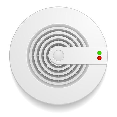 Ilustración de detailed illustration of a smoke detector - Imagen libre de derechos