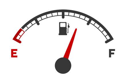 Illustration pour illustration of a motor gas gauge - image libre de droit