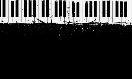 Ilustración de detailed illustration of grunge piano background - Imagen libre de derechos