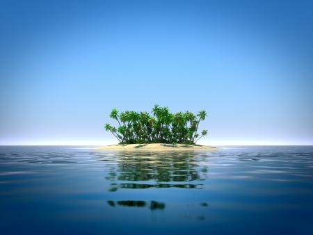 Foto de Tropical island in the ocean - Imagen libre de derechos