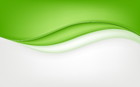 Abstract green wave background. Vector illustration. Clip-art