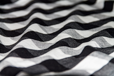 Photo for Texture of a crumpled shirt, white black cloth for a background - Royalty Free Image
