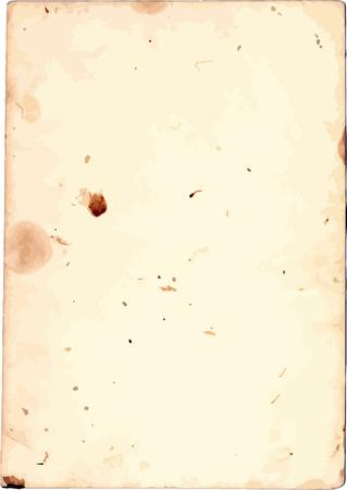 Illustration pour Old paper texture, grunge stained piece of paper - image libre de droit