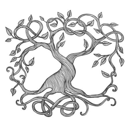 Illustration for Celtic tree of life, illustration of Yggdrasil - Royalty Free Image