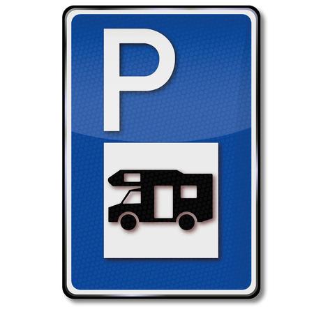 Illustration pour Parking for rv and caravan - image libre de droit