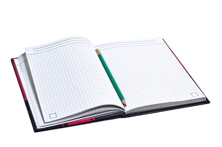 Photo for Open notebook on white background - Royalty Free Image