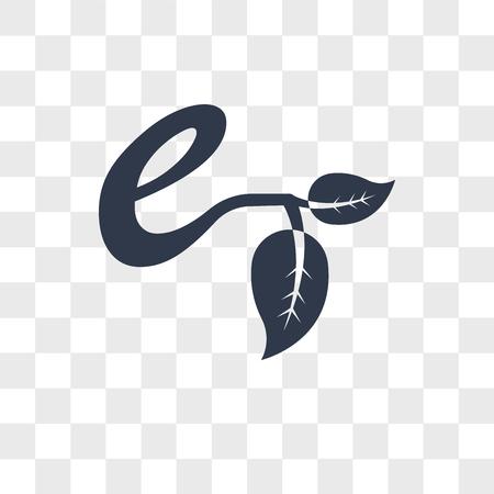 Ilustración de Eco E vector icon isolated on transparent background, Eco E logo concept - Imagen libre de derechos