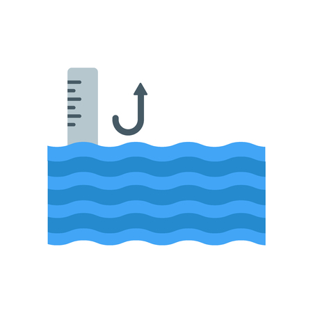 Illustration pour Sea level icon vector isolated on white background for your web and mobile app design - image libre de droit