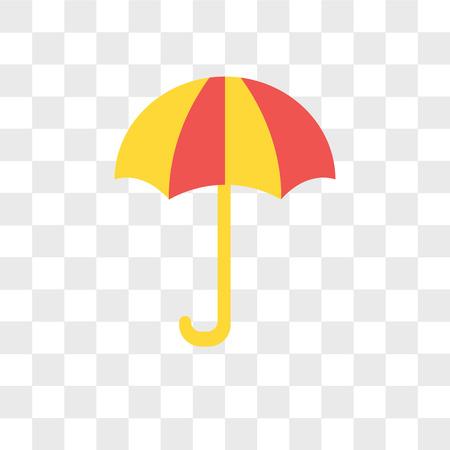 Ilustración de Umbrella vector icon isolated on transparent background, Umbrella logo concept - Imagen libre de derechos