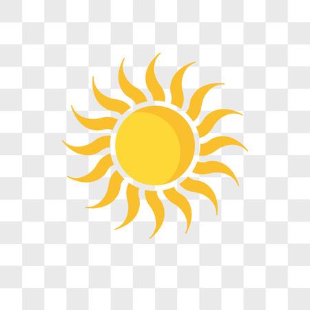 Ilustración de sun vector icon isolated on transparent background, sun logo concept - Imagen libre de derechos