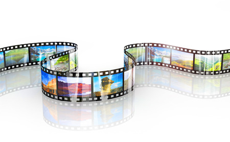Photo for image of a nice film strip background - Royalty Free Image