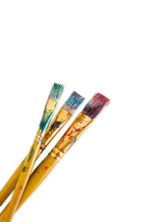Photo pour Paintbrush isolated on white - image libre de droit