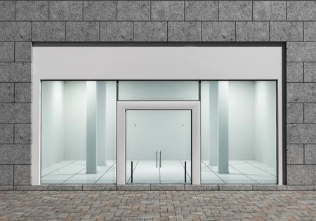 Foto de Modern Empty Store Front with Big Windows - Imagen libre de derechos
