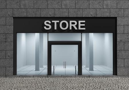 Photo pour Modern Empty Store Front with Big Windows - image libre de droit