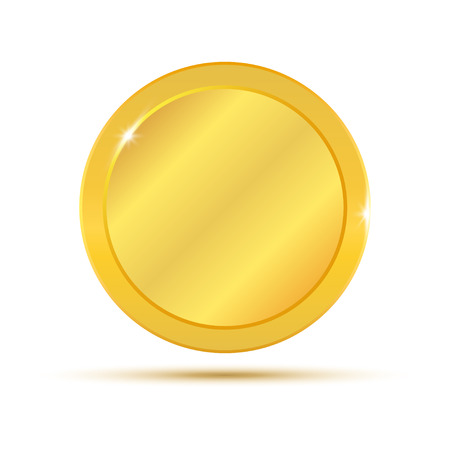 Illustration pour Gold coin. Vector illustration isolated on white background - image libre de droit