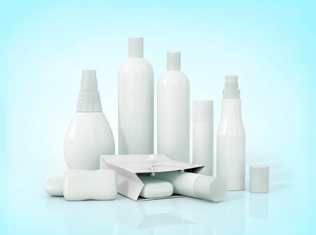 Foto de Blank packaging bottles cosmetics - Imagen libre de derechos