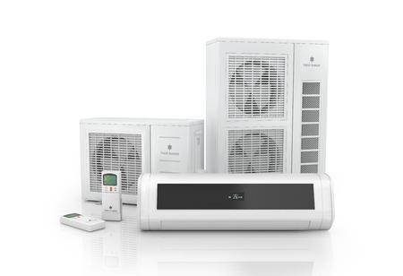 Foto de Air conditioner system isolated on white. - Imagen libre de derechos