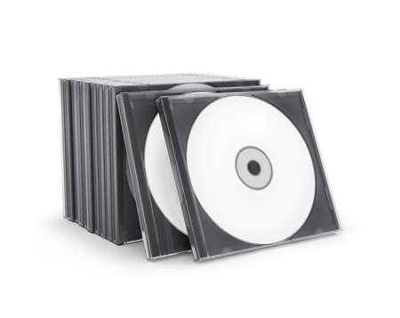 Photo for CD Box with disc on white background - Royalty Free Image