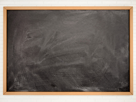 Photo for Blackboard chalkboard texture. Empty blank black chalkboard with chalk traces - Royalty Free Image