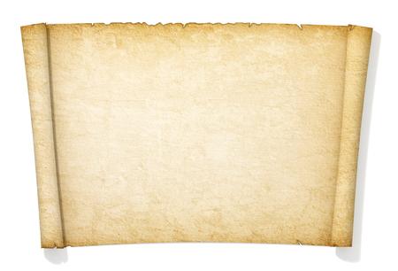 Foto de Advanced yellowed and old roll of paper. - Imagen libre de derechos