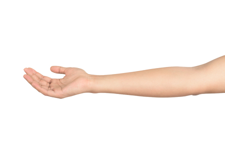 Photo pour open male hand isolated on white background - image libre de droit