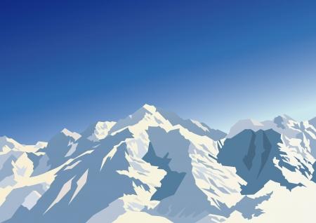 Illustration pour Mountains - image libre de droit