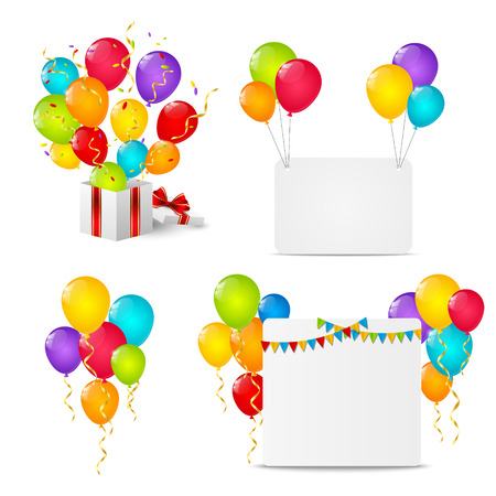Illustration pour Set of Birthday objects - image libre de droit