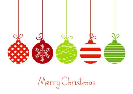 Illustration pour Color Christmas balls on white - image libre de droit