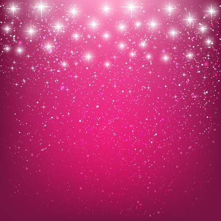Illustration pour Shiny stars on pink background - image libre de droit