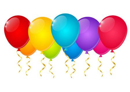 Illustration pour Color balloons on white background - image libre de droit