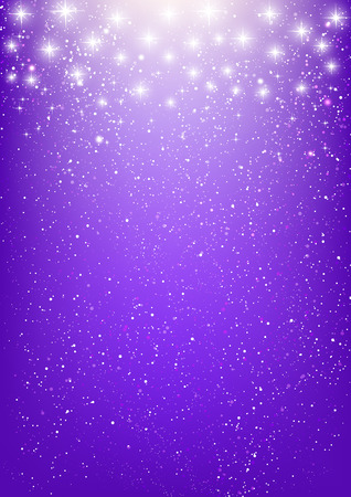 Illustration pour Shiny stars on purple background - image libre de droit