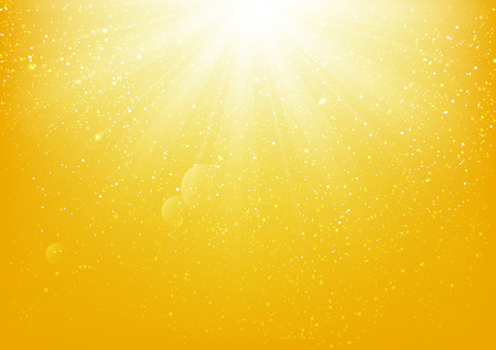 Illustration pour Shiny light on yellow background - image libre de droit