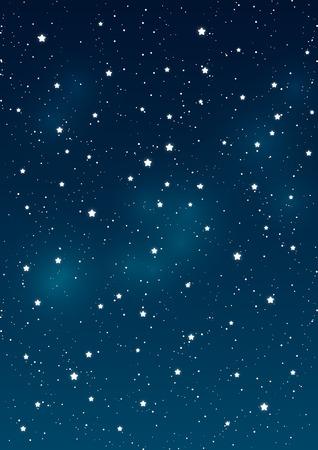 Illustration pour Shiny stars on night sky background - image libre de droit