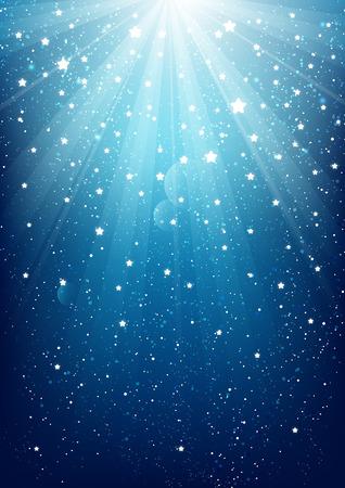 Illustration pour Shiny lights on blue background - image libre de droit