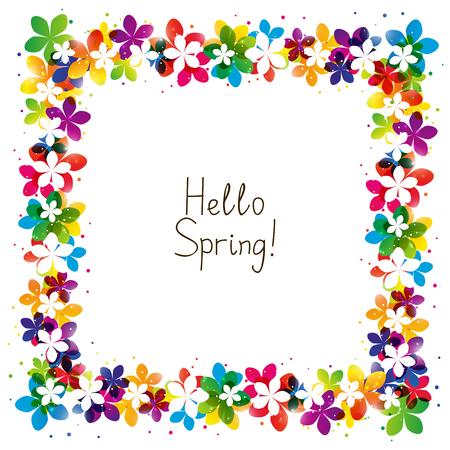 Illustration pour Spring floral frame with place for Your text - image libre de droit