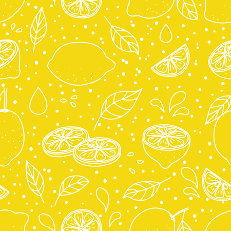 Illustration pour Seamless pattern with juicy lemons - image libre de droit