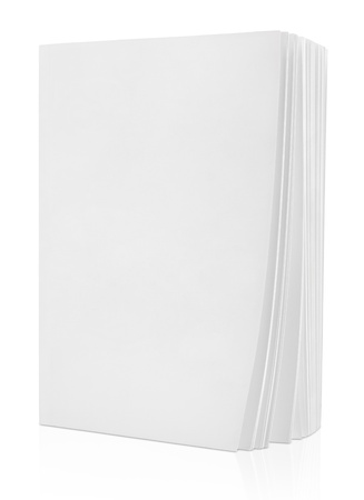 Photo for Blank white book isolated on white  - Royalty Free Image