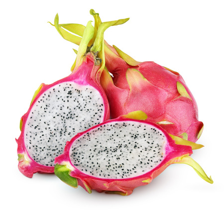 Photo for Dragon fruit or pitaya with cut isolated on white background with clipping path - Royalty Free Image