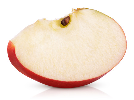 Photo pour Red apple slice isolated on white background - image libre de droit