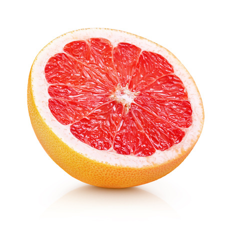 Photo for Half grapefruit citrus fruit isolated on white with clipping path - Royalty Free Image