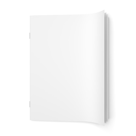 Foto de Top view of cover empty magazine blank isolated on white background - Imagen libre de derechos