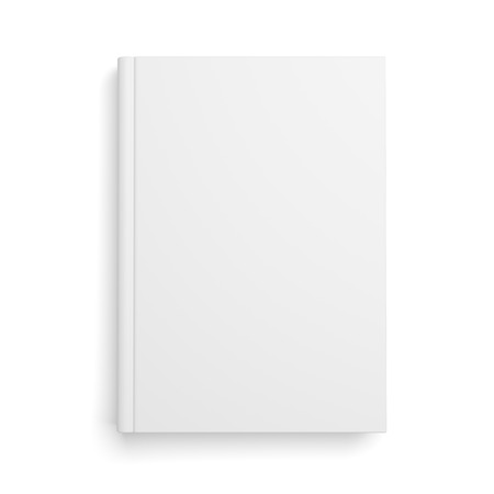Photo pour Blank book cover isolated over white background with shadow - image libre de droit