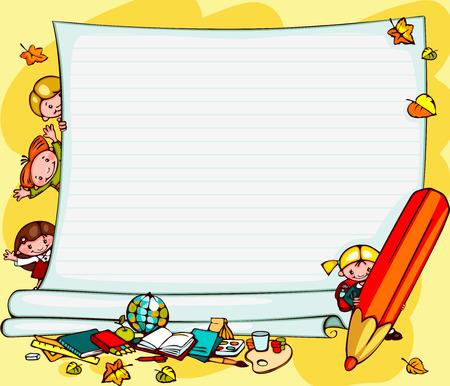 Illustration pour school children - image libre de droit