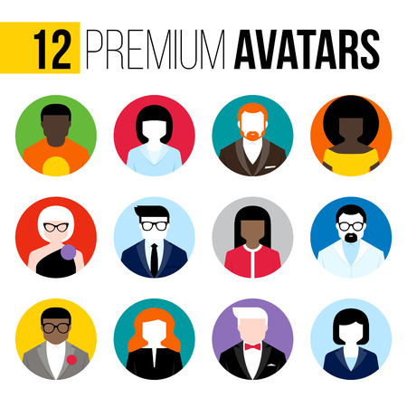 Photo pour Modern flat avatars set. - image libre de droit